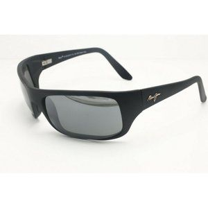 Maui Jim Peahi MJ 202-2M Black Wrap Sunglasses